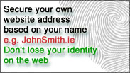 Secure your own webite address based on your name